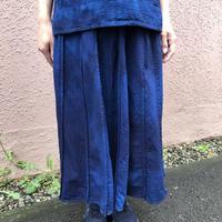 日頃の感謝を込めて大特価!!『一点物』&コロナに負けるな!!藍染めスカート 総丈80cm 濃淡染め技法『一点物』