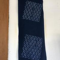 藍染め手ぬぐい「青海波」型染め