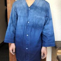 日頃の感謝を込めて大特価!!『一点物』&コロナに負けるな!!藍染めダボシャツLサイズ グラデーション 男女兼用 『一点物』