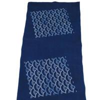 藍染め手ぬぐい 型染め「青海波」デザイン