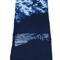 藍染め手ぬぐい 型染め「富士山」デザイン