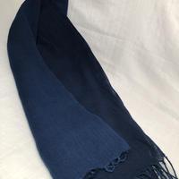 日頃の感謝を込めて大特価!!『一点物』&コロナに負けるな!!藍染め 濃淡染め 綿ガーゼストール大判 185×60cm 『一点物』