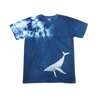 型染め「白鯨」 藍染めTシャツ