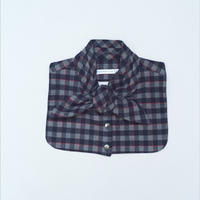 Bow Collar Gray Check ボウカラーグレーチェック