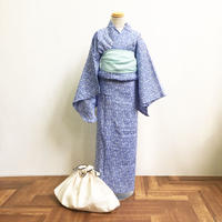 KIDSオリジナル浴衣「波」ブルー
