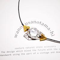 【再販】パキスタン産ヒマラヤ水晶クリスタル ネックレス B (三角モチーフ)