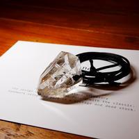 ガネーシュヒマール産ヒマラヤ水晶(ライトスモーキー)サテンコードネックレス