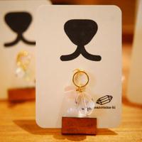 天然石のチャーム(水晶・ローズクォーツ)