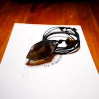 ガウリシャンカール産ヒマラヤ水晶(スモーキー・光沢)真鍮パーツネックレス M