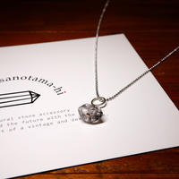 ダブルポイント水晶 シルバーネックレス