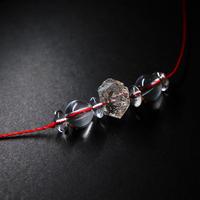 ダブルポイント水晶 ネックレスNo.3 ワックスコード