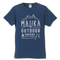 Mauka outdoor オリジナルTシャツ カラー:ヘザーネイビー