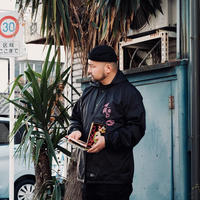 VINYL JUNKIE - Rhythm Of Resistance &mo Hooded Coach Jacket / BLACK