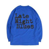 VINYL JUNKIE - Late Night Blues Long Sleeve Tee / ROYAL BLUE