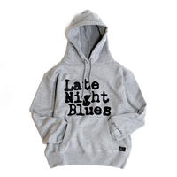 VINYL JUNKIE - Late Night Blues Pull Over Hoodie - GRAY