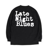 VINYL JUNKIE - Late Night Blues Long Sleeve Tee / BLACK