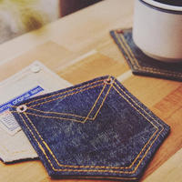 HillMeJEAN Denim Coaster/同色2枚セット