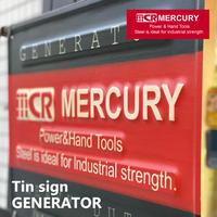 Mercury Tin sign GENERATOR【マーキュリー】ティンサイン ジェネレーター