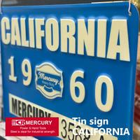 Mercury Tin sign CALIFORNIA【マーキュリー】ティンサイン カリフォルニア