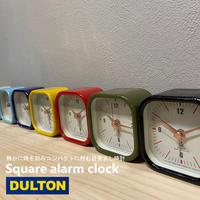 DULTON SQUARE ALARM CLOCK スクエア アラーム クロック/860H20-0178