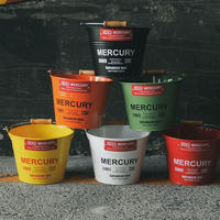 マーキュリーブリキバケツ スモール 5L Mercury Tin bucket small