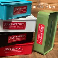 マーキュリー ブリキティッシュボックスMercury Tin tissue box