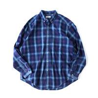 L.L.Bean / shadow plaid B.D. shirt