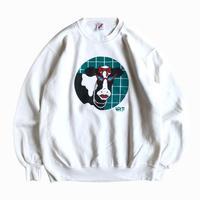 Jerzees / cow graphic print sweatshirt