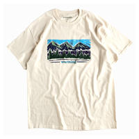 "warming / Mt.Crayon drawing print tee ""Ivory"""