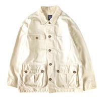 GAP / ivory canvas burn jacket