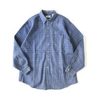 L.L.Bean / cotton faded plaid B.D. shirt