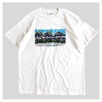 """warming / Mt.Crayon drawing print tee """" white """""""