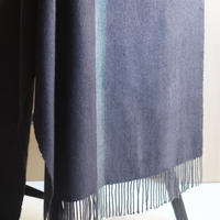 SHAWL  -Black×Dark gray-