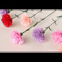 【即日発送可】和紙の花/一輪のカーネーション 全4色