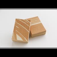 柿渋和紙カード 名刺サイズ50枚セット