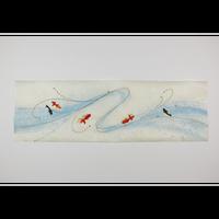 「限定品」創作デザイン和紙(金魚)(商品番号:as-17502)