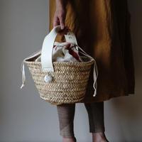 White Leather handle BAG+ antique cloth pouch vol.2