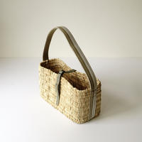 ワンショルダーカゴBAG SMALL  ( MILITARY KHAKI & KHAKI LEATHER) シリアルNo.055