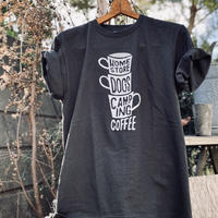 "coffee ""3 Cups"" Tee Shirts  (Smoke Black)"