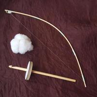 綿の実ひとつから糸を紡ぐ簡易キット・綿打ち弓版 解説動画あり
