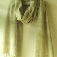 自家栽培綿 無染色 手紡ぎ手織り布 うすみどり(別サイトへ)
