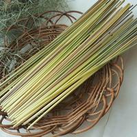 ライ麦の藁 ヒンメリ用 Lサイズ 約50本 自家自然栽培2020年産