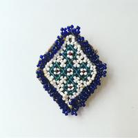 ビーズ刺繍ブローチ・3(アフガニスタン)小