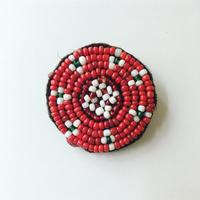 ビーズ刺繍ブローチ・4(アフガニスタン)小