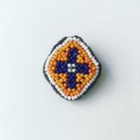 ビーズ刺繍ブローチ・1(アフガニスタン)小