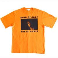「MILES DAVIS」ver.4 ジャズTシャツ(写真家・内山繁氏コラボ) WATERFALL  S/ M/ L