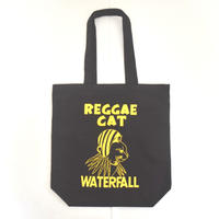 「猫レゲエ」猫ツアートートバック レコードバッグ  ブラック F  WATERFALLオリジナル限定商品