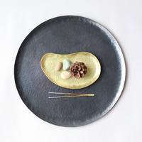 鎚目模様の勾玉平皿(真鍮)