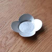 花輪茶托 錫銀