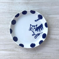CAT×DOTS /Plate( L)  / Mino ware